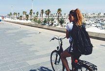 Op de fiets **..