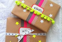 Gift Wrapping With Fabrics / xmas gift wrapping with fabrics / by Michael Levine