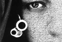 Shirin Neshat / An Iranian artist who uses Persian text in her amazing paintings and photos