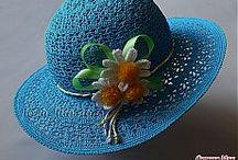 вязаные шляпы,кепки