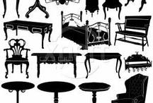 Victorian and Eduardian  interiors / Mobiliario, accesorios, interiores, moda, cultura, avances tecnológicos, etc. comprendidos entre el periodo victoriano y el eduardiano.
