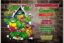 Teenage Mutant Ninja Turtles Birthday Party / Teenage Mutant Ninja Turtles Party Ideas   TMNT   Teenage Mutant Ninja Turtles Invitations