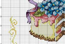 mutfak kanavice sablonlari / kitchen cross stitch crafts