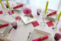 Tischdekoration / Hübsche Kleider für den Tisch