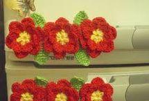 flores em crochê /tricô