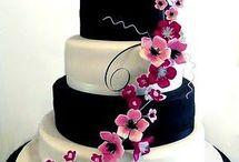 Black & white &? Cake decoration
