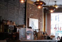 Cafés and Bars / Interesting cafe, bistro and bar interiors