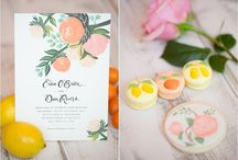 Lemon & Clementine Garden Wedding / Designed by Imoni Events and Flower Studio at El Chorro Lodge. Along with Allure Bridal, Amy + Jordan Photography, Celebrations in Paper, Ruze Cake House, La Tavola and Classic Cakes and Confections