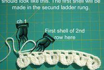 Crochet - Crocodile stitch / crocodile stitch