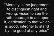 Morality is the challenge