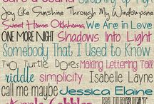 písmo fonty