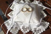 hardanger wedding pillow