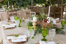 Mantelería en tono tierra para el día de tu boda. // Earth tone table linen for your wedding day.