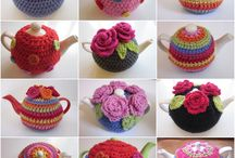 Tea cosies and kitchen