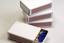 Cajas de Cerillas Blancas / Cajas de cerillas blancas sin impresión.