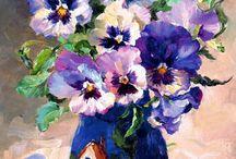 цветочные натюрморты