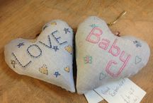Cushions and soft furnishings / Sewn items and lampshades available in our shop. Jilly Tilly & Boo