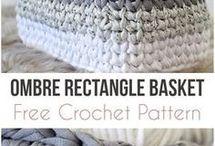Crochet Rectangle Basket
