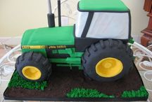 Tractor and lorry cakes