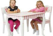 Kids Tables & Chairs /  The painted ones are from all the Teamosn ~ Fantasy Fields collections which you can see all the other pieces available in store The plain Tables & Chairs are made by Kidkraft, you can see the full range of Kidkraft in store