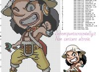 Schemi ricamo punto croce One Piece / Schemi ricamo punto croce One Piece