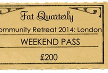 Fat Quarterly Retreat 2014 / by Fat Quarterly
