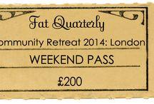 Fat Quarterly Retreat 2014 / by Fat Quarterly