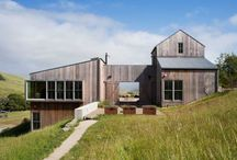 Modern Farmhouse Exteriors / A mix of rustic, classic details with sleek, modern elements, or what I like to call country glam.