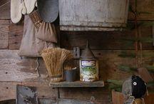 Primitief oud hout..