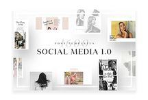 Social Media Templates Collection / This boards collects elegant, minimalist, & modern social media templates.