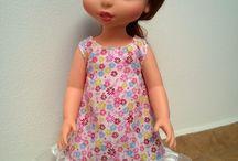 My Disney animators dolls / moje disney animator panenky / My sewn dresses. Moje šití na tyto panenky.