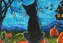 Halloween teckningar och pyssel