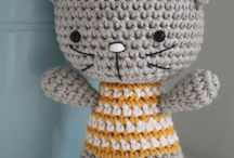 Crochet dolls and animals