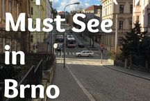 Brno / A board about the beautiful city of Brno in the Czech Republic. A great place to visit.