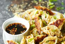 Garlic Ginger Chicken Potstickers
