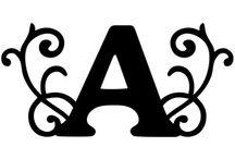 буквы вырезание