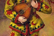 Marionette with mandoline