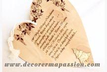 HANDMADE Dekoracje wypalane w drewnie