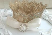 Baby Crowns / These crowns are custom made by hand at Purple Pumpkin Gifts! They make great photo props for infant pictures or can be made larger for birthday hats!