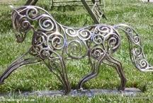 Escultura caballos