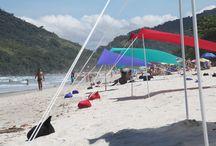 Cores da Ecotent / Sobre as tendas Ecotent que colorem as praias