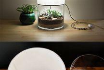 lampara con plantas