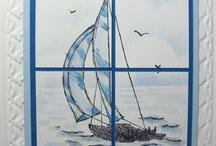 Handgemachte Karten - Sail away