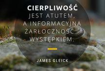 cytaty infobrokera / inspirujące cytaty, wyłowione z książek, który niekoniecznie wprost informacji dotyczą