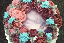 Flower cakes by me