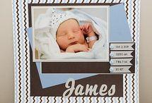 Baby Skyla Scrapbook