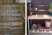Outdoor projects using salvage