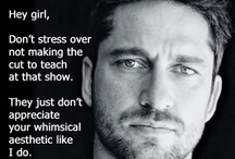 Beaded Laughter / (because Gerard Butler is just so much hotter than Ryan Gosling)
