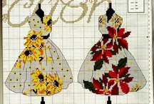 cross stitch Paris, mode....