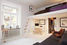 Un lit dans le salon